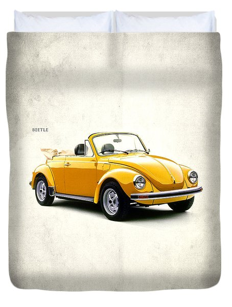 Vw Beetle 1972 Duvet Cover by Mark Rogan