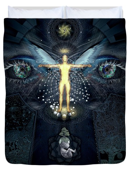 Ascension And Rebirth Duvet Cover by Alex Polanco