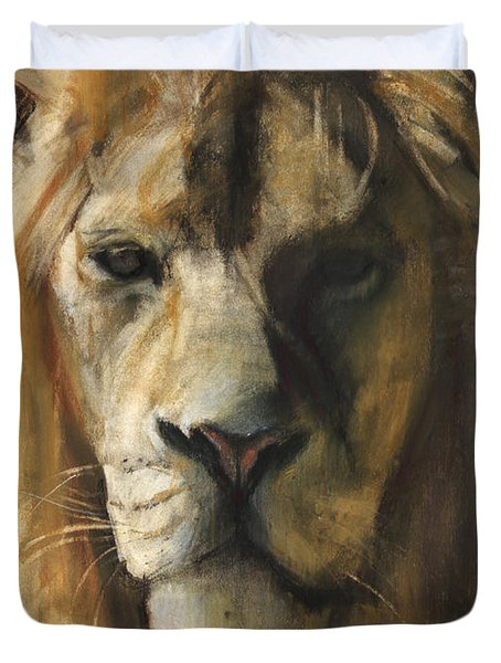 Asiatic Lion Duvet Cover by Mark Adlington