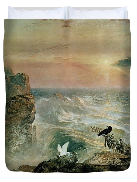 Assuaging Of The Waters Duvet Cover by John Martin