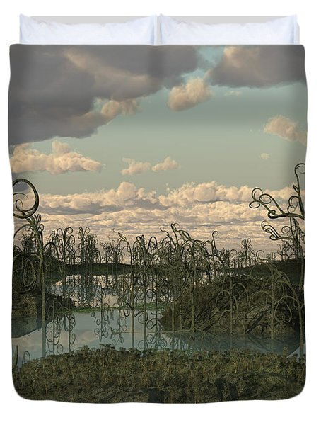 Asteroxylon Was A Primitive Plant That Duvet Cover by Walter Myers