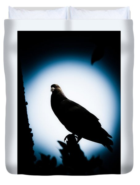 Astral Pigeon Duvet Cover by Loriental Photography