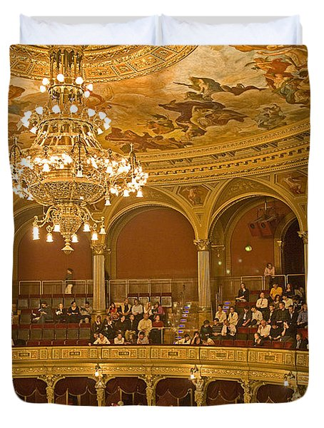 At The Budapest Opera Duvet Cover by Madeline Ellis