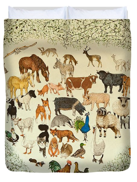 At The Heart Of It All Duvet Cover by Pat Scott
