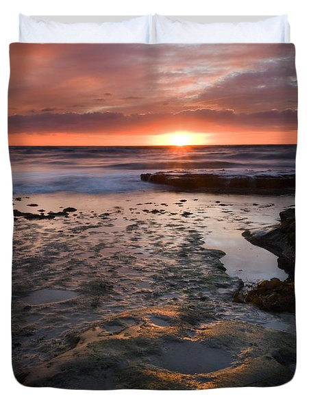 At the Horizon Duvet Cover by Mike  Dawson