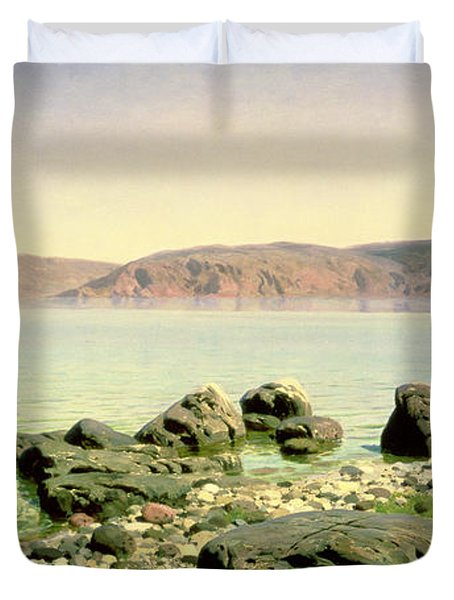At The Sea Of Galilee Duvet Cover by Vasilij Dmitrievich Polenov