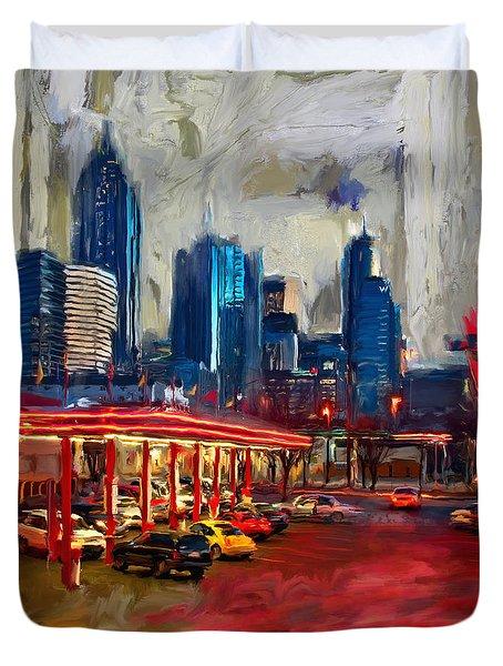 Atlanta Skyline 231 1 Duvet Cover by Mawra Tahreem