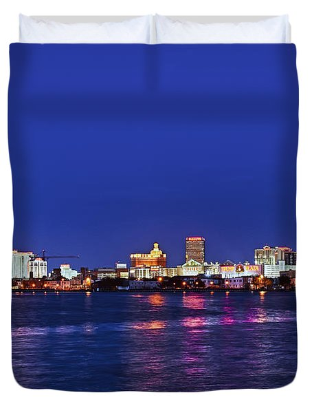 Atlantic City Skyline. Duvet Cover by John Greim