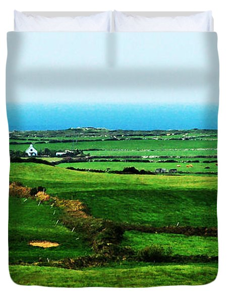 Atlantic View Doolin Ireland Duvet Cover by Teresa Mucha