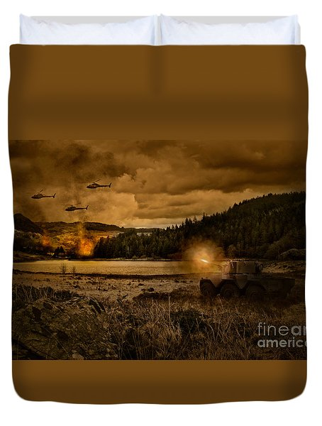 Attack At Nightfall Duvet Cover by Amanda Elwell