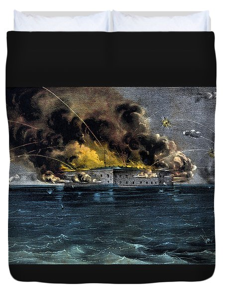 Attack On Fort Sumter Duvet Cover by War Is Hell Store