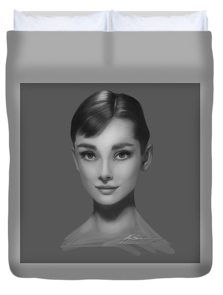 Audrey Hepburn Duvet Cover by Alex Ruiz