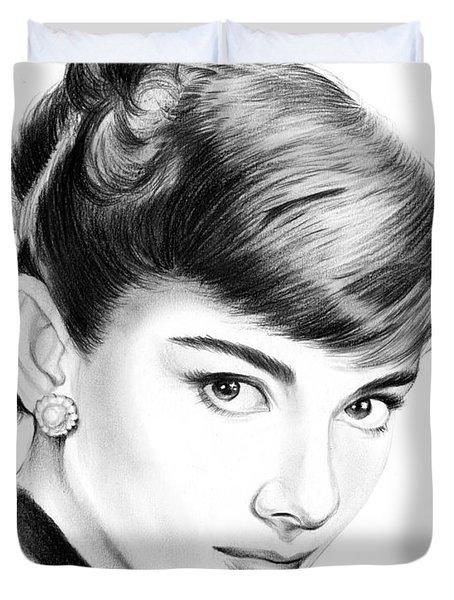 Audrey Hepburn Duvet Cover by Greg Joens