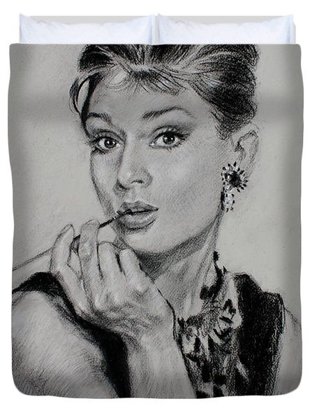 Audrey Hepburn Duvet Cover by Ylli Haruni