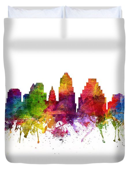 Austin Cityscape 06 Duvet Cover by Aged Pixel