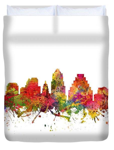Austin Cityscape 08 Duvet Cover by Aged Pixel