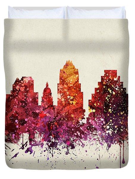 Austin Cityscape 09 Duvet Cover by Aged Pixel