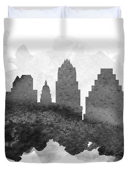 Austin Cityscape 11 Duvet Cover by Aged Pixel