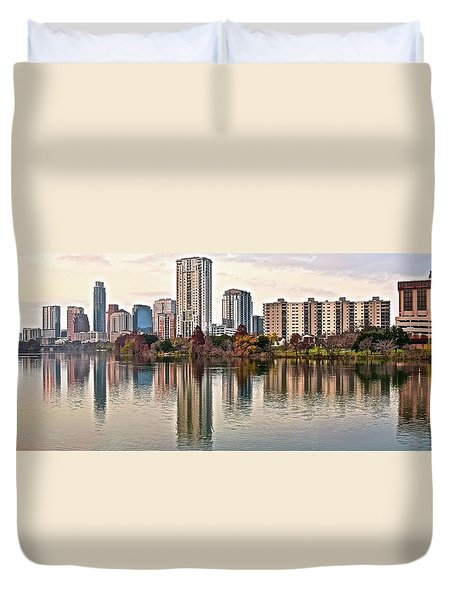 Austin Wide Shot Duvet Cover by Frozen in Time Fine Art Photography