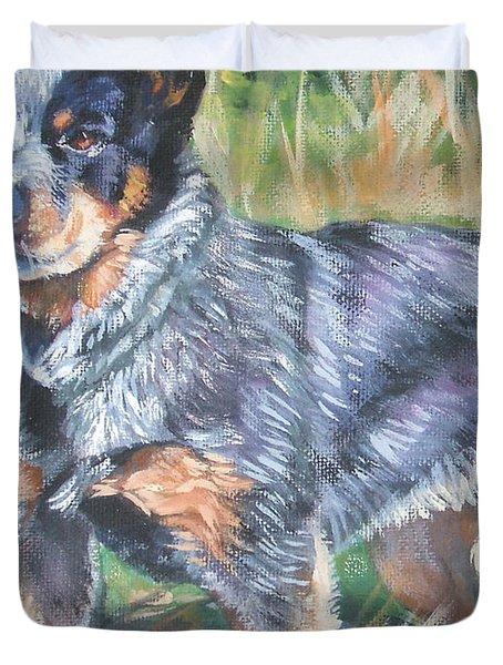 Australian Cattle Dog 1 Duvet Cover by Lee Ann Shepard