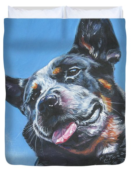 Australian Cattle Dog 2 Duvet Cover by Lee Ann Shepard