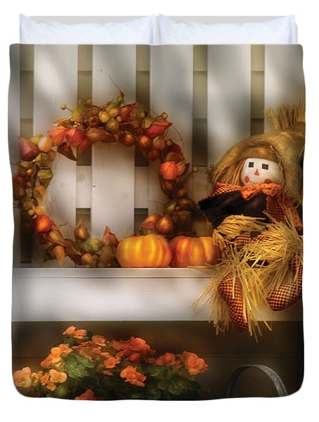 Autumn - Still Life - Symbols Of Autumn  Duvet Cover by Mike Savad