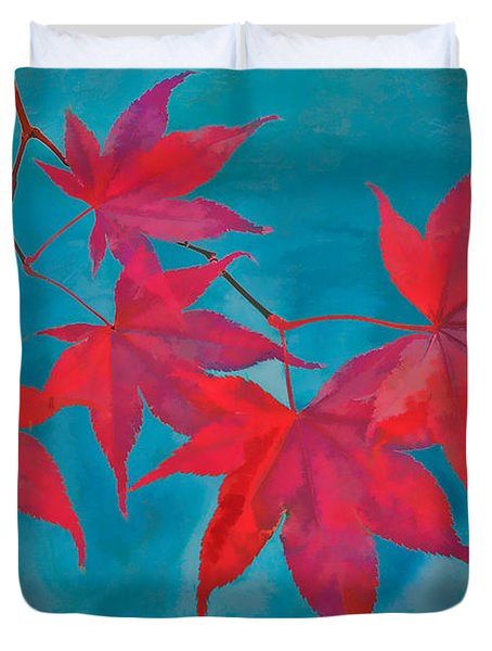 Autumn Crimson Duvet Cover by William Jobes