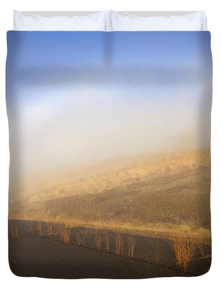 Autumn Fog Bow Duvet Cover by Mike  Dawson