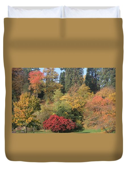 Duvet Cover featuring the photograph Autumn In Baden Baden by Travel Pics
