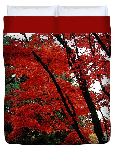 Autumn In New England Duvet Cover by Melissa A Benson