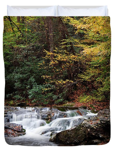Autumn In The Smokies Duvet Cover by Andrew Soundarajan