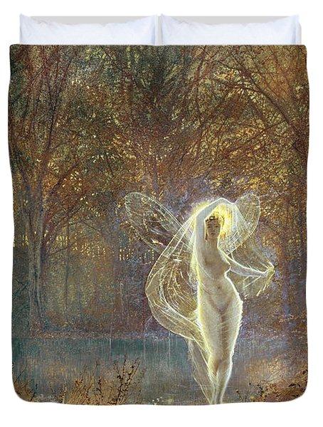 Autumn Duvet Cover by John Atkinson Grimshaw