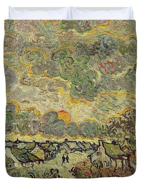 Autumn Landscape Duvet Cover by Vincent Van Gogh