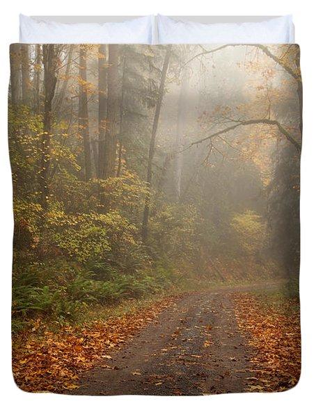 Autumn Lane Duvet Cover by Mike  Dawson
