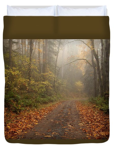 Autumn Lane Duvet Cover by Mike  Dawson