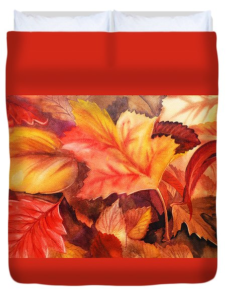 Autumn Leaves Duvet Cover by Irina Sztukowski