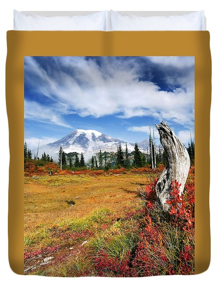 Autumn Majesty Duvet Cover by Mike  Dawson