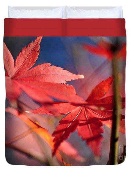 Autumn Maple Duvet Cover by Kaye Menner
