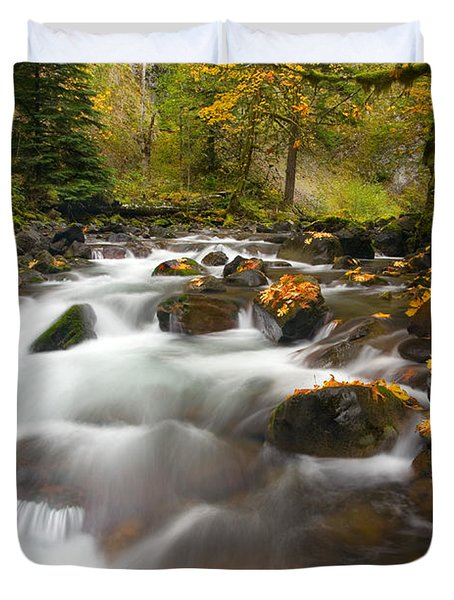 Autumn Passages Duvet Cover by Mike  Dawson