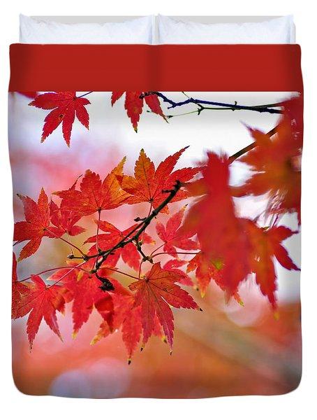 Autumn Pastel Duvet Cover by Kaye Menner