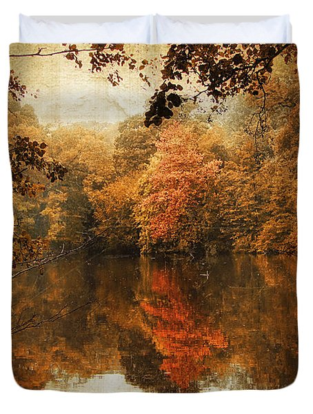 Autumn Reflected Duvet Cover by Jessica Jenney