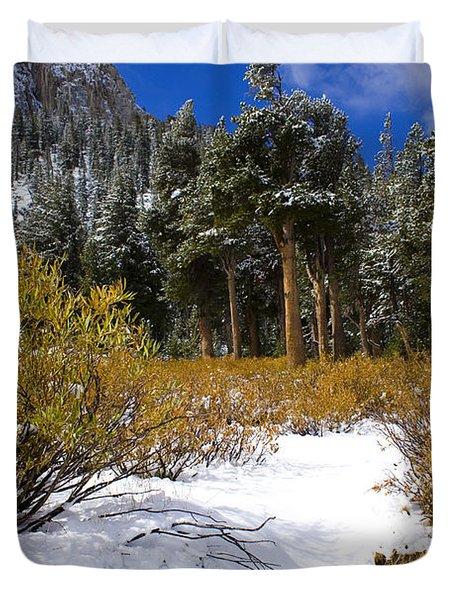Autumn Snow Duvet Cover by Chris Brannen
