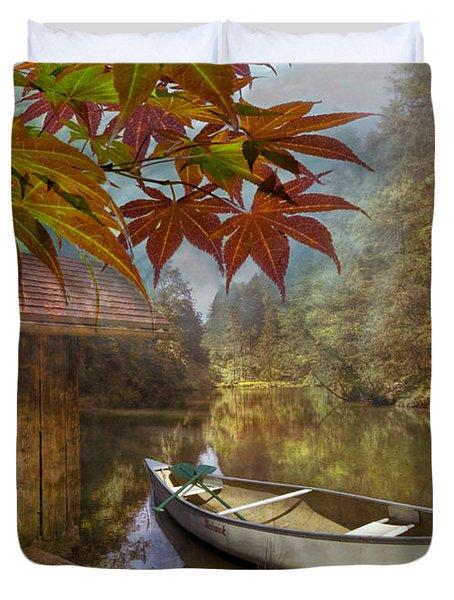 Autumn Souvenirs Duvet Cover by Debra and Dave Vanderlaan
