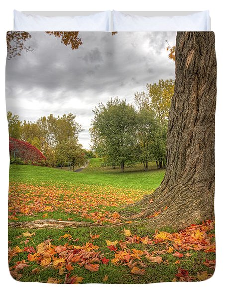 Autumn Tale Duvet Cover by Mircea Costina Photography