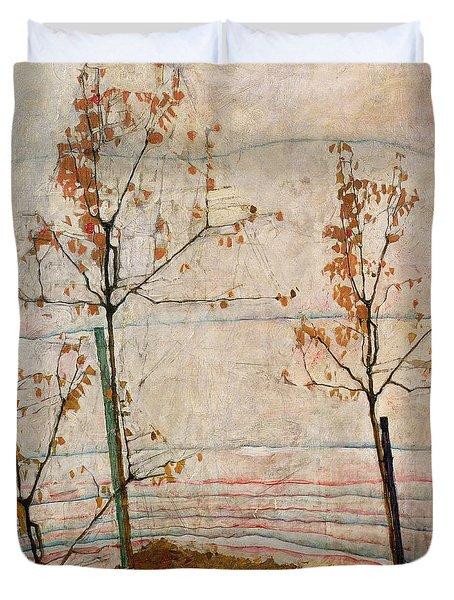 Autumn Trees Duvet Cover by Egon Schiele
