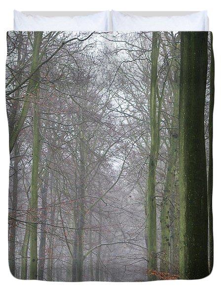 Autumn woodland avenue Duvet Cover by Gary Eason