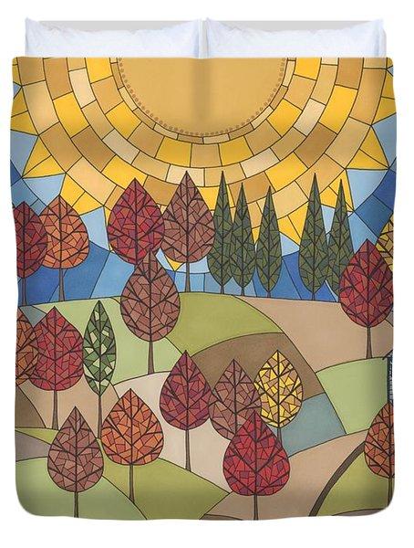 Autumn's Tapestry Duvet Cover by Pamela Schiermeyer