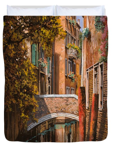 autunno a Venezia Duvet Cover by Guido Borelli