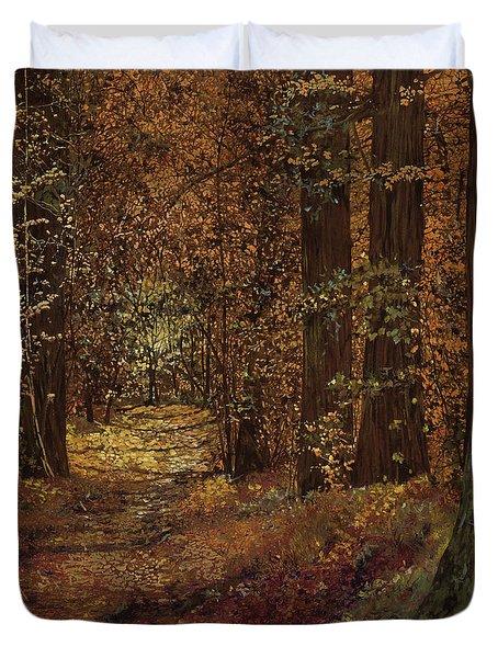 autunno nei boschi Duvet Cover by Guido Borelli