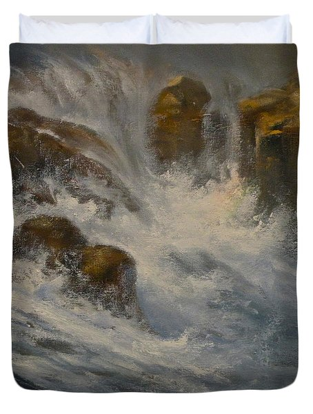 Avalanche Falls Duvet Cover by Mia DeLode